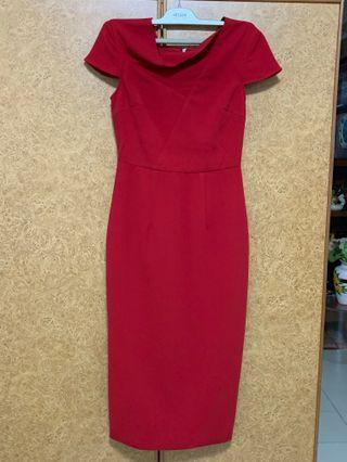 🚚 Love Bonito Red Pencil Dress