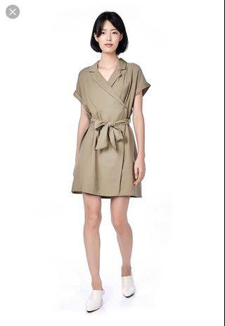 🚚 Nyssa Overlap Dress in Sage