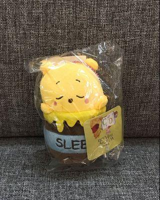 Disney Winnie the Pooh sleepy honey pot mascot plushy hanging ball keychain Japan claw machine