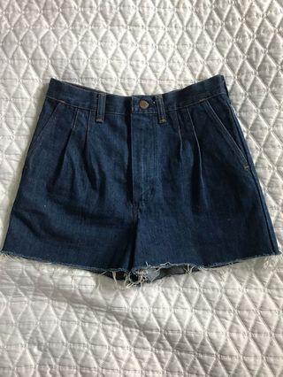 Vintage Wrangler High Waisted Shorts with Raw Hem