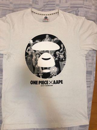 Aape X ONE PIECE 短tee