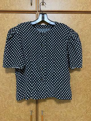 🚚 Vintage Polka Dot Top