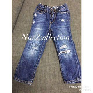Preloved Original BabyGap Destructed Mini Girls Skinny 2-3Year