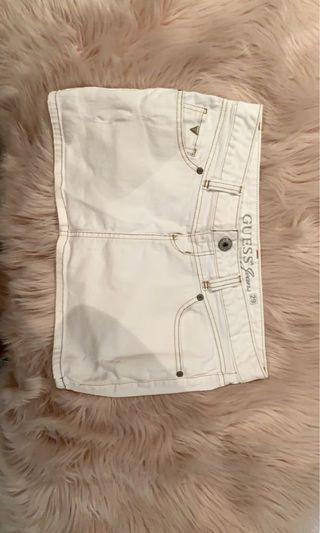 GUESS white denim skirt
