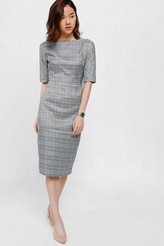 Love Bonito Prischa Tweed Tailored Midi Dress XS BNWT