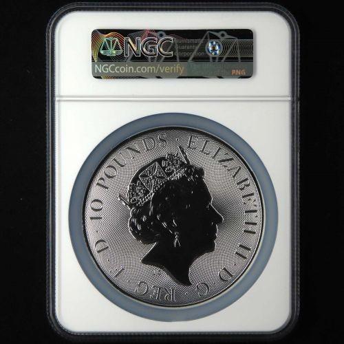 2018年英國10盎司格里芬獅鷲銀幣