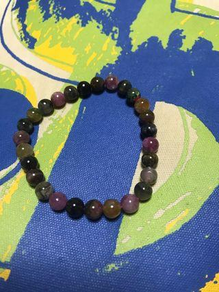 7mm tourmaline bracelet with certificate 100 percent natural