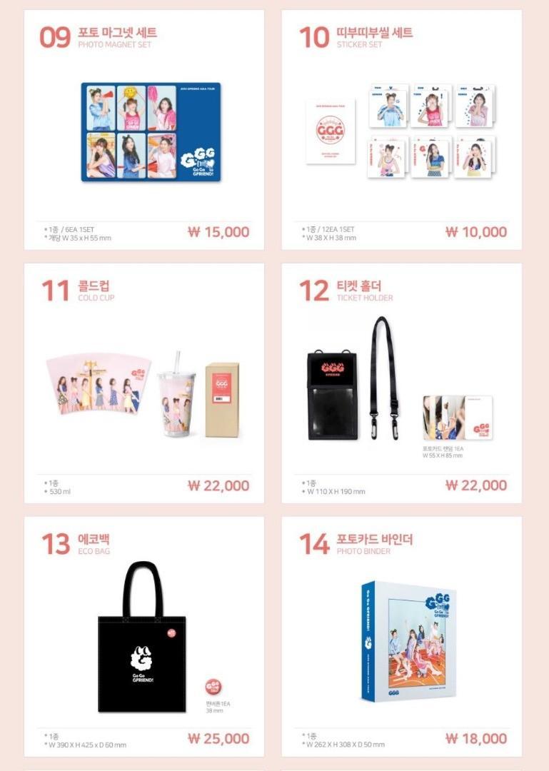 [CLOSED] 2019 GFRIEND ASIA TOUR Go_Go_GFRIEND! Official Goods