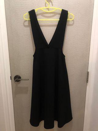 黑色連身裙 long black dress