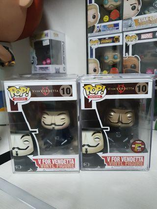 Super Rare V for Vendetta Funko Pop set