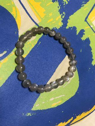Natural Black Moonstone Sunstone Strong Light Crystal Beads Bracelet