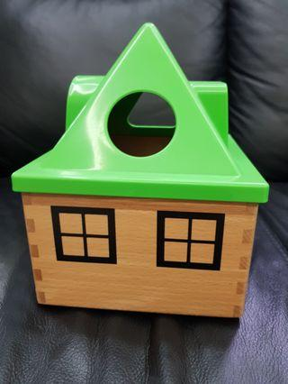 🚚 IKEA MULA Shape Sorter educational toy house