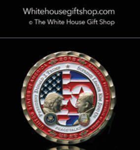 美國白宮發行侵金會紀念幣連證書