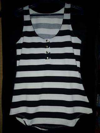 Stripe Top Black n White