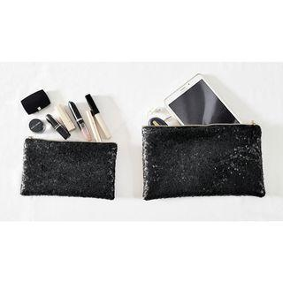 Black cosmetic Pouch Set