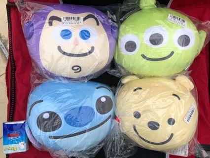 Cushion Winne the Pooh,Stitch ,Donald,三眼仔,巴斯光年