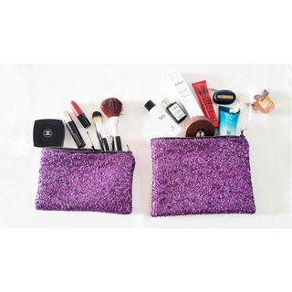 Purple cosmetic Pouch Set