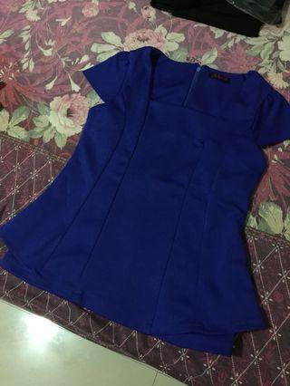 Carol navy blouse