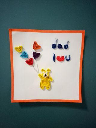 Handmake quilling art father day card