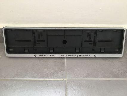 BMW number plate frame