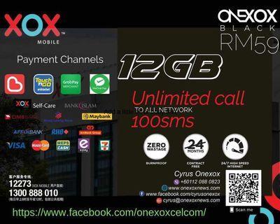 A Malaysia Sim Card or eSim Postpaid for Onexox Celcom 4g LTE