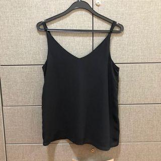 cotton on black v-neck cami top