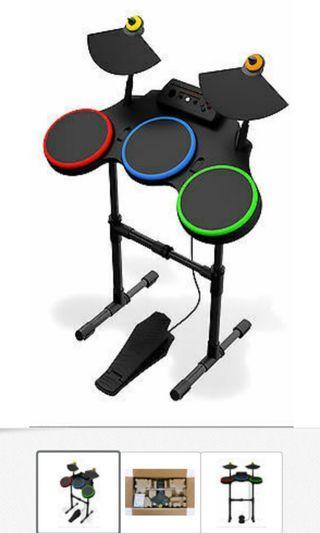 PS3 鼓連咪全套連 Rock Hero 及 band game 及 鼓棒 3 set