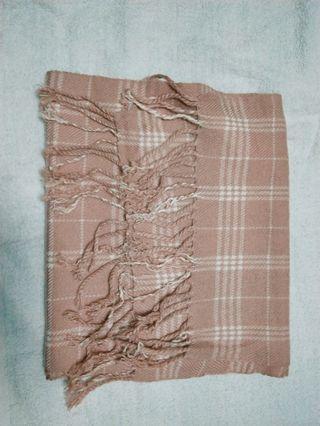 🚚 櫻花粉 流蘇圍巾