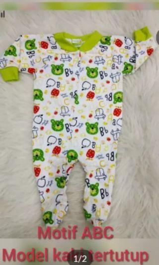 Sleepsuit ABC hijau kuning