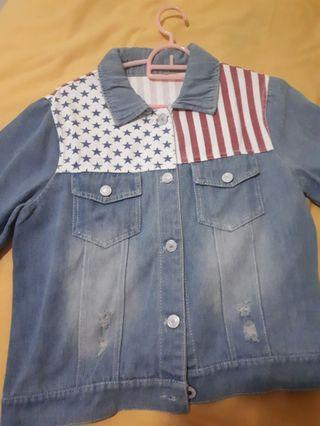American Flag Denim Jacket