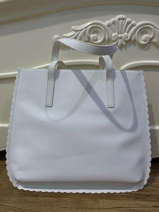 Authentic Charles & Keith Scallop Tote Bag