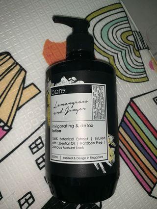 Bare lemongrass and ginger lotion 500ml (body lotion)