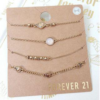 Forever 21 bracelets gold bohemians