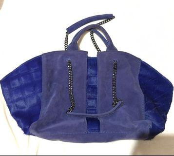 Ramy Brook Calf Hair & Suede Blue Tote Bag