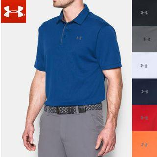 <LAST CALL> UNDER ARMOUR Heat gear loose fit short sleeves men golf polo thick texture shirt USA model