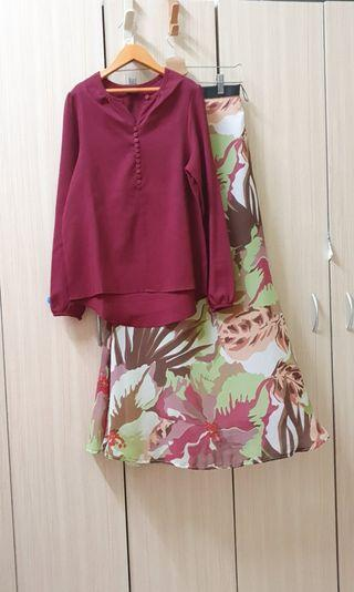 ‼Combo Sale‼Kree Skirt with 3 Matching Blouses