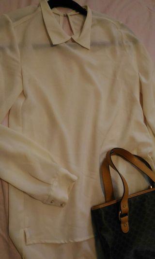🚚 Mango雪紡襯衫