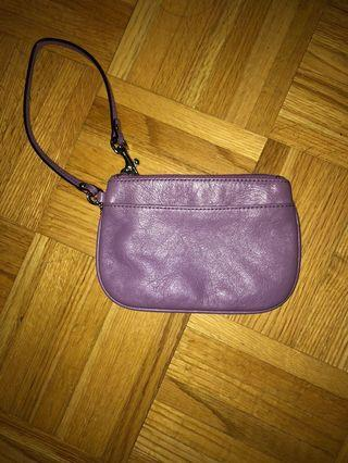 COACH purple wristlet, new never used