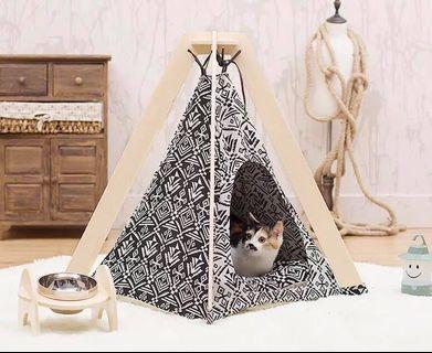 四季都岩用貓帳篷