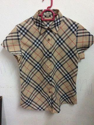 Burberry shirt girl