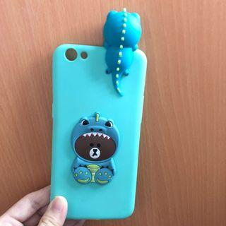 OPPO R9S LINE BROWN DINO Phone Casing