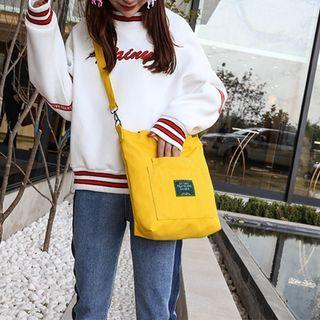 Korean-style Removable Shoulder Strap Canvas Cross Body Sling Tote Bag