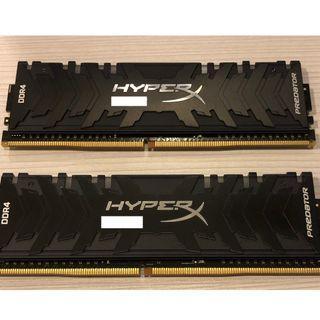 HyperX Predator RGB 4000 8GBx2 記憶體 (HX440C19PB3AK2/16)