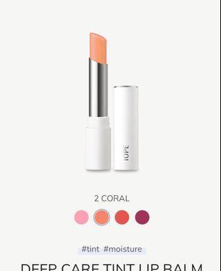 全新IOPE深層滋潤有色潤唇膏 Deep Care Tint Lip Balm #02 Carol #freepricing