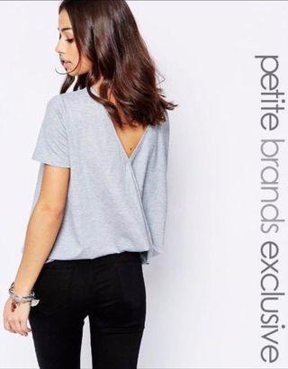 🚚 ASOS Glamorous Grey Minimalist Low Back Top