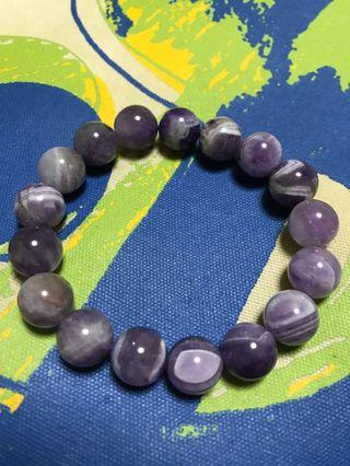 Natural Purple Amethyst Crystal Beads 11.5mm Bracelet