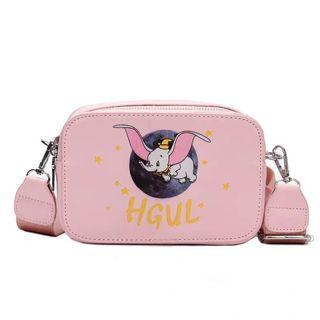 🚚 🐣現貨🐣❤佳比雜貨❤粉色少女小飛象小方包斜背側背包