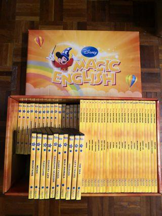 GROLIER DISNEY MAGIC ENGLISH 26 BOOKS AND DVDs