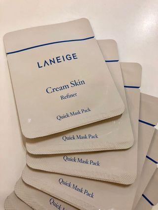 Laneige Cream Skin Refiner Samples