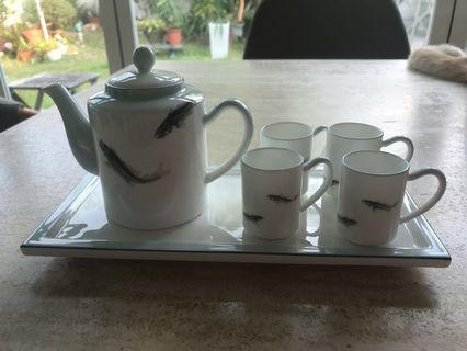 迷你白骨瓷茶壺一套